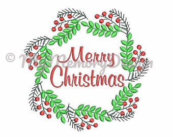 Christmas Embroidery Design - Merry Christmas Embroidery Design - Embroidery fonts - Machine embroidery file - INSTANT DOWNLOAD 4x4 5x7 6x10
