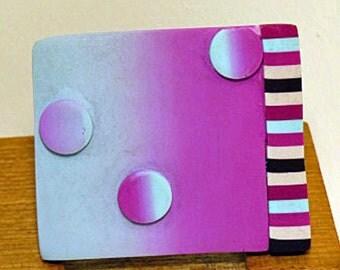 Small square brooch. Celestial Circles brooch.