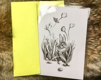 Rabbit Easter Card