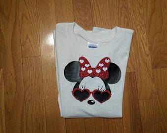 Minnie mouse sunglasses, Minnie shirt, Mommy Disney shirt,Personalized disney shirts, Parents disney shirt,Vacation Disney