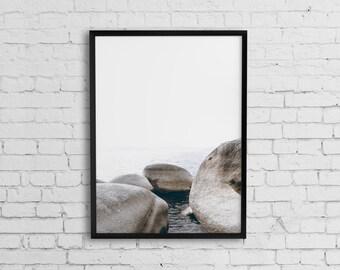 Coastal wall art, Beach photography, Beach art, Photography print, Printable art, Ocean photography, Printable coastal wall decor, Sea print