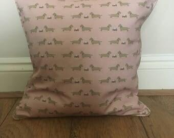Pink daschund Cushion