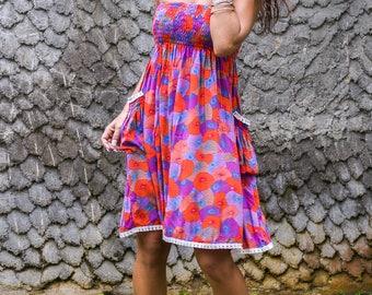 Edi Skirt-Dress, Skirt Dress Combo, Versatile Skirt, Boho Skirt, 104-143