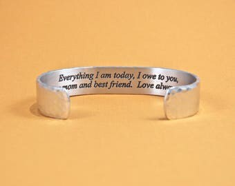 Everything I am today, I owe to you, as my mom and best friend.  Love always, (NAME) - Mother of the Bride Gift / Mother's Day Gift