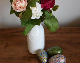 Artificial roses, posy of roses, red roses, floral arrangement, floral display, silk flowers, mothers day gift, vase of flowers