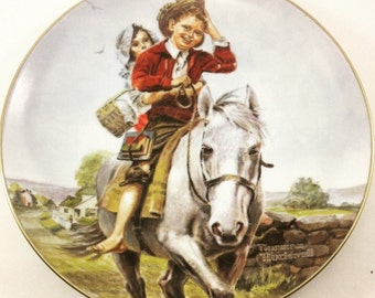 Back to School collector plate by Norman Rockwell In Box USA 1981