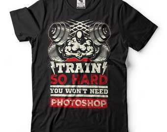 GYM Hard Train T-Shirt Muscle Tee Shirt Training Funny Sport Athletics Strong Fitness Crossfit Cross Fit