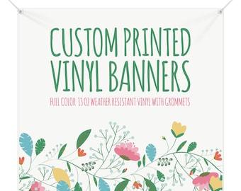 Custom Square Banner Vinyl, Full Color Banner, Vinyl Banner, Vinyl Sign, Custom Vinyl Banner, Custom Sign, Custom Printed Banner