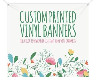 Custom Vinyl Banner Etsy - Custom vinyl sign