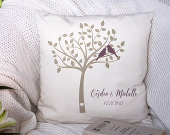 Cutom Couples Gift - Engagement Pillow - Rustic Wedding Gift - Gift for Newlyweds - Family Tree Pillow - Accent Name Pillow - Family Gift