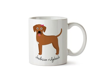 Rhodesian Ridgeback Mug (girl)