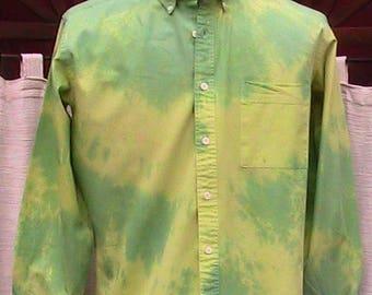 Size 16 neck Banana Moon Hand Dyed Henry Grethel Long Sleeve Shirt