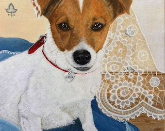 Custom dog portrait, pet portrait, ritratto di cane