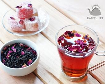 Rose Tea - Persian Rose Tea - Rose Petals Black Tea - Rose Blend Tea - Aroma Tea - Romantic Rose Tea