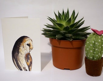 Greetings Card - Barn Owl