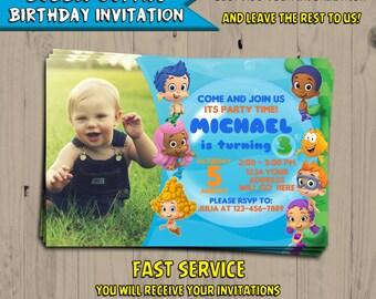 Bubble Guppies Birthday Invitation - Bubble Guppies Birthday - Invite - Party Favors - Digital - Printable - Personalized