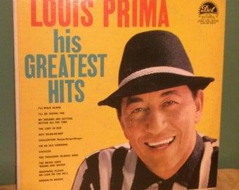 Louis Prima Vinyl Record Album - His Greatest Hits - This Listing Expires On July 16, 2017