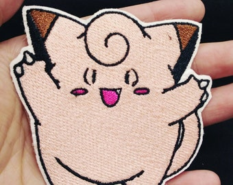 Pokemon patch - Clefairy Embroidered Sew/Iron on Badge Applique