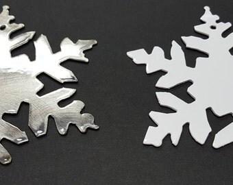 Snowflake, Christmas Tree Ornament, Stocking Stuffer, 1st Christmas Couple, Metal Snowflake Ornament, Christmas Gift, Traditional Ornament