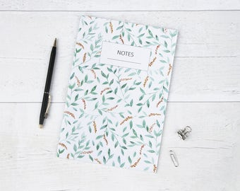 Honey Leaf A5 Lined Notebook