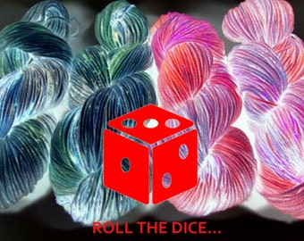 Mystery Yarn, Roll the Dice, Let Us Choose a Yarn for You, Surprise, One Month Subscription Club, Sock, DK, Worsted, Indie Yarn Gift