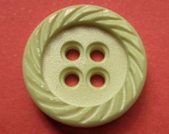 11 bright green buttons 16mm (3482) Green
