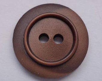 12 buttons 16mm dark brown (3945) Brown