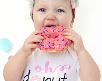 Donut Shirt, Girls Donut Shirt, Donut Birthday Shirt, Baby Girl Shirt, Toddler Girl Shirt, Baby Tshirt, Toddler Tshirt, Girls Tshirt