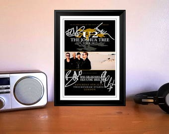 U2 The Joshua Tree Concert Tour Flyer London 8th July 2017 Autographed Signed Photo Print - 1