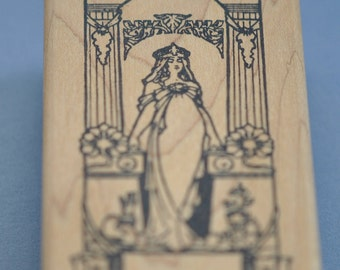 Goddess  Rubber Stamp By Asya Graphics  Vintage