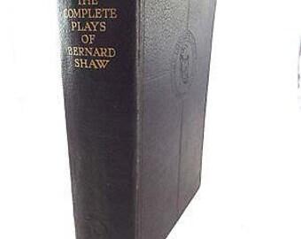 Vintage 1934 The Complete Plays of BERNARD SHAW Hardback Odhams Press