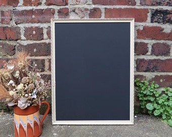 Vintage Ornate Cream & Gold Chalkboard Frame for Wedding 21x16 inches - Blackboard, Menu, Welcome Sign, Home Decor, Party, Prop, Cafe