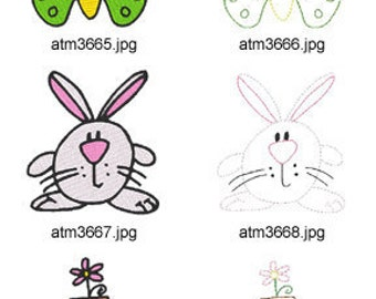 Spring-1 ( 10 Machine Embroidery Designs from ATW ) XYZ17C