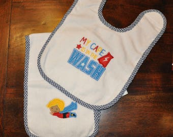 My Cape is in the Wash Bib and Burp Cloth