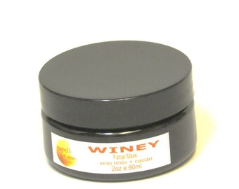 WINEY Mask | Anti Aging | Antioxidant | Glowing | Red Wine | Cocoa | Collagen Boost |