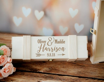 Engraved Wine Box, Personalized Wine Box, Couples Gift, Wedding Gift, His and Hers Wedding Gift, Wooden Wine Box, Engraved Wooden Box