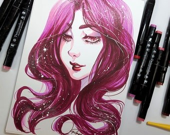 ORIGINAL ART ~ Passionate Pink