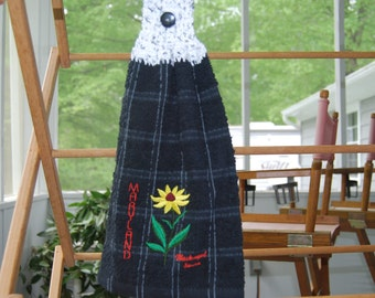 Maryland Black-eyed Susan Hanging Towel 1