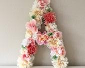 Floral Letter Monogram, Flower Letter, Floral Monogram Letter, Nursery Letter, Floral Initial, Letter Art, Letter Nursery, Floral Nursery