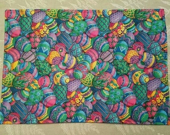 Bright Easter egg reversible placemats