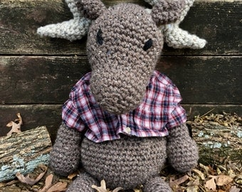 Moses the Moose Crochet Stuffed Animal Crochet Moose Plush Moose Toy Moose Amiguriumi Crochet Moose