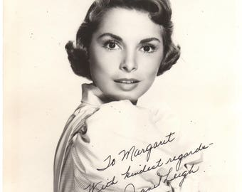 1950's Janet Leigh Signed Black & White Photo Personalized to Margaret