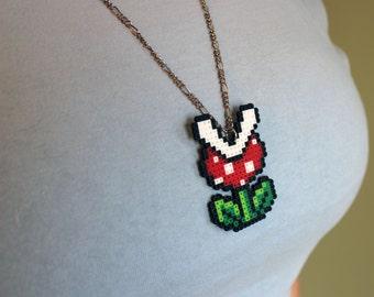 Piranha Plant - Super Mario Bros. - Mini Perler Beads