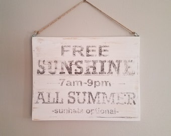 DOUBLE SIDED Spring Summer Sign