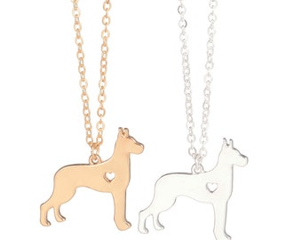 Great Dane Dog Necklace