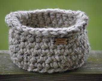 Crochet Basket | Small Basket | Home Decor | Yarn Basket | Basket | Catch All Basket | Farmhouse Decor | Organization | Desk Accessories