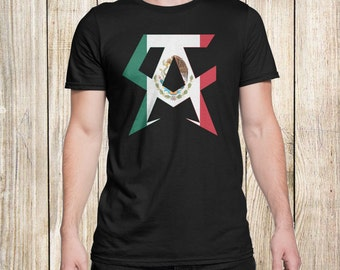 SAUL CANELO ALVAREZ Boxing Men T-Shirt Black Mexico Flag