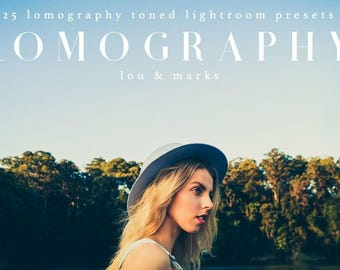 25 Lomography Lightroom Presets Professional Photo Editing for Portraits, Newborns, Weddings By LouMarksPhoto
