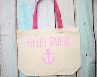 Hello Sailor Anchor Large Tote Shopper Bag
