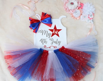My 1st 4th July Tutu Outfit